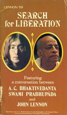 Search for Liberation / A.C. Bhaktivedanta, Swami Prabhupada and John Lennon