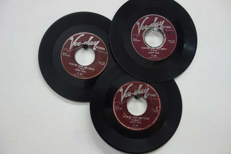 "Three copies of ""You Got Me Dizzy"" by Jimmy Reed!"