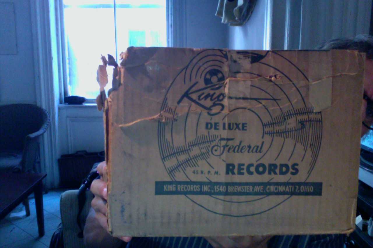 A box that once contained about a hundred unplayed records from the legendary King/Deluxe/Federal label!