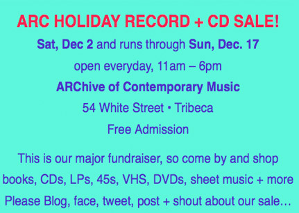 Final Days of ARC's Holiday Sale!   The ARChive of