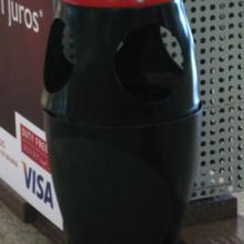São Paulo, Brazil, garbage can